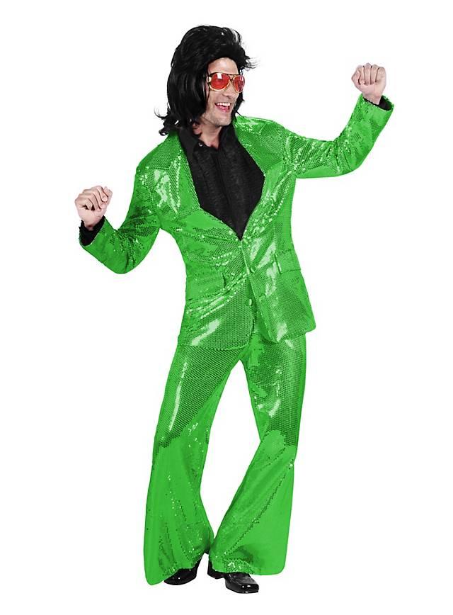 Crooner Sequined Suit green Costume