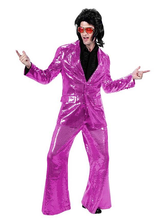 Crooner Sequined Suit pink Costume