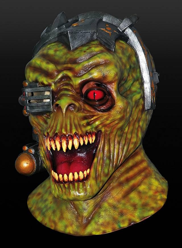 Cyber Alien Maske aus Latex