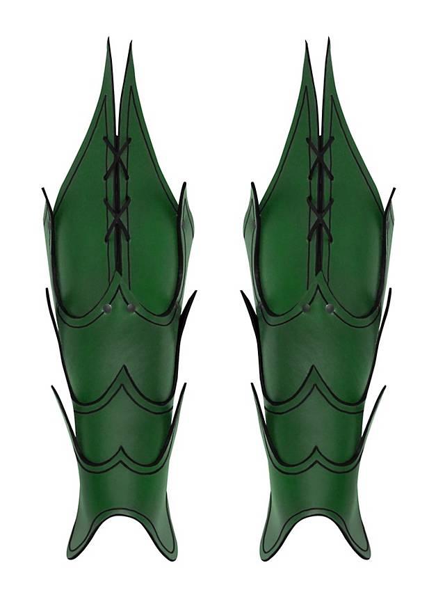 Dämonen Beinschienen grün