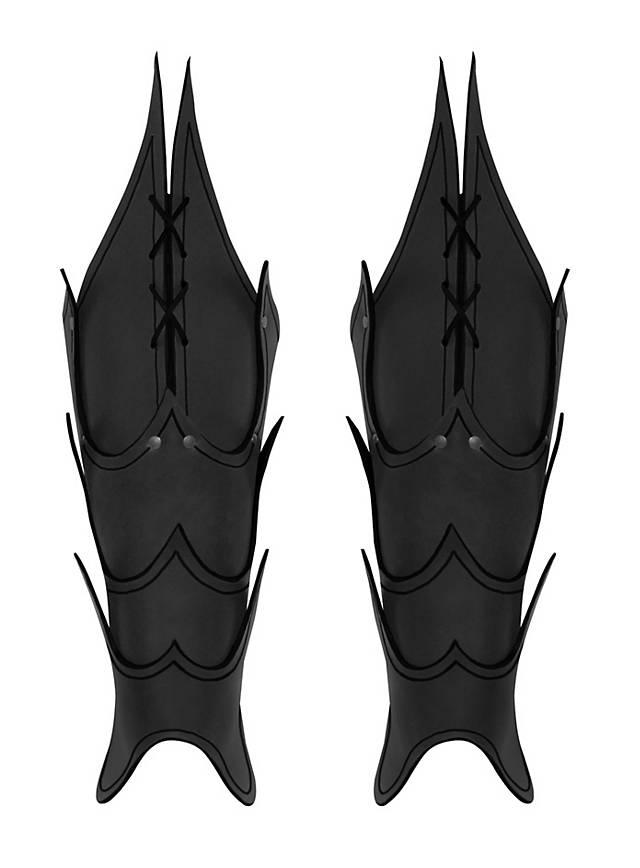 Dämonen Beinschienen schwarz