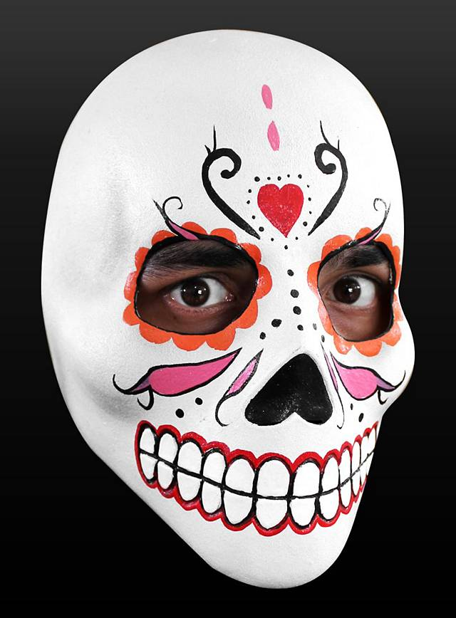 Day of the Dead Mask Lady Death  Made of Latex