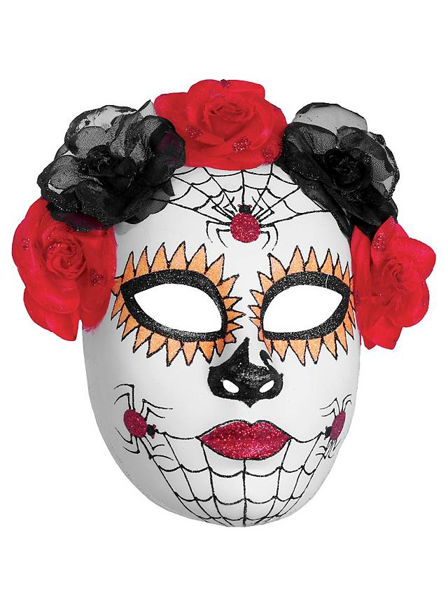 Day of the Dead mask spiders