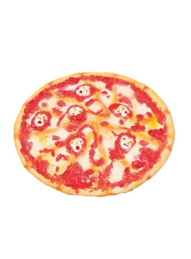 Décoration d'Halloween animée Pizza aux âmes Freddy Krueger