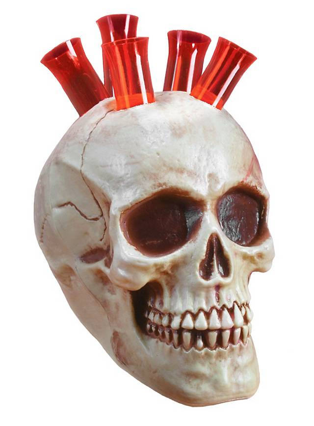 Décoration d'Halloween crâne à shots