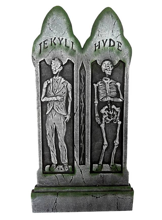 Décoration d'Halloween Pierre tombale Jekyll et Hyde