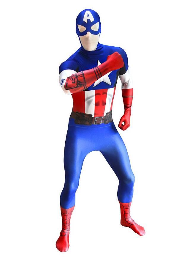 Déguisement combinaison Captain America Digital Morphsuit