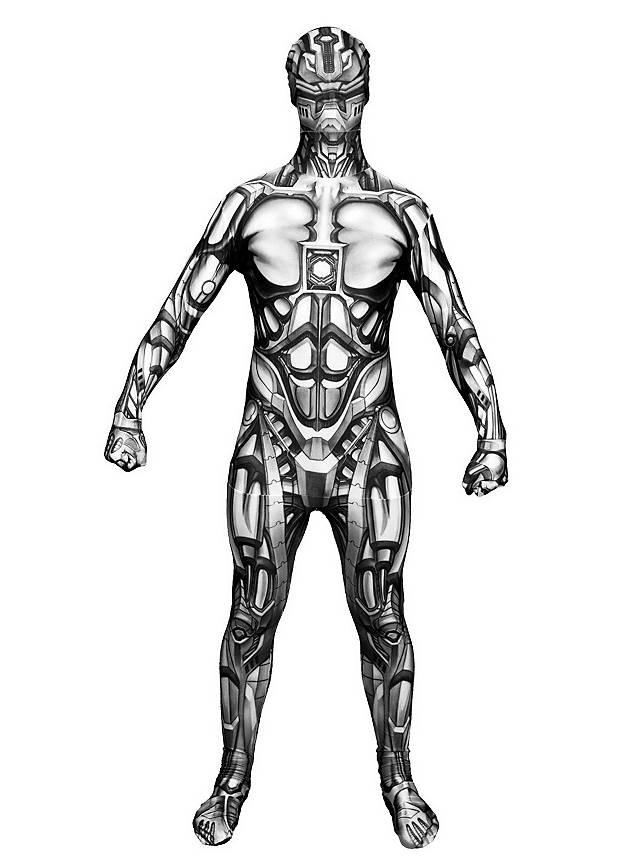 Déguisement combinaison d'androïde Morphsuit