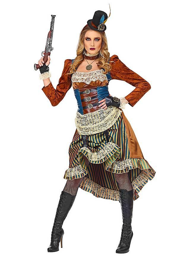 Déguisement de dame de saloon steampunk