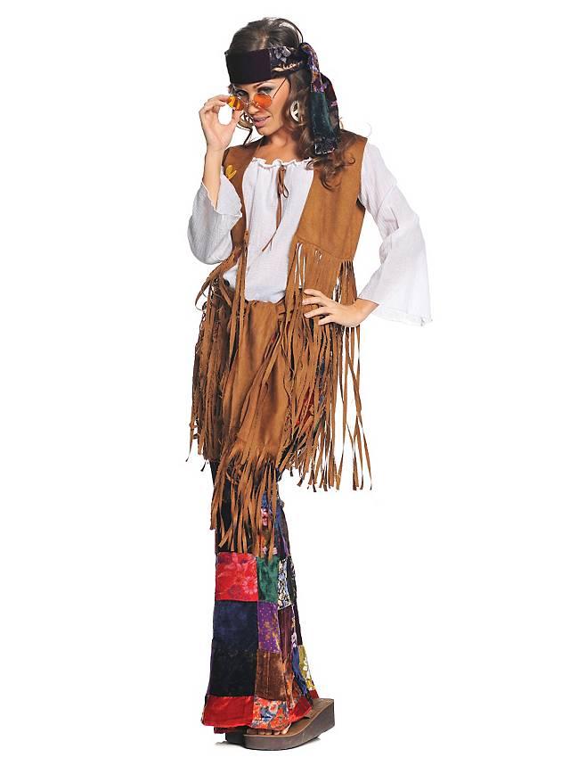 Déguisement de hippie patchwork