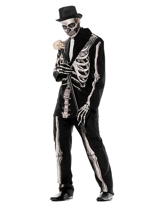 Déguisement de squelette gentleman