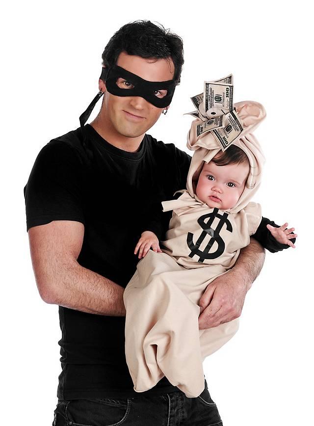 Déguisement familial braqueur de banque