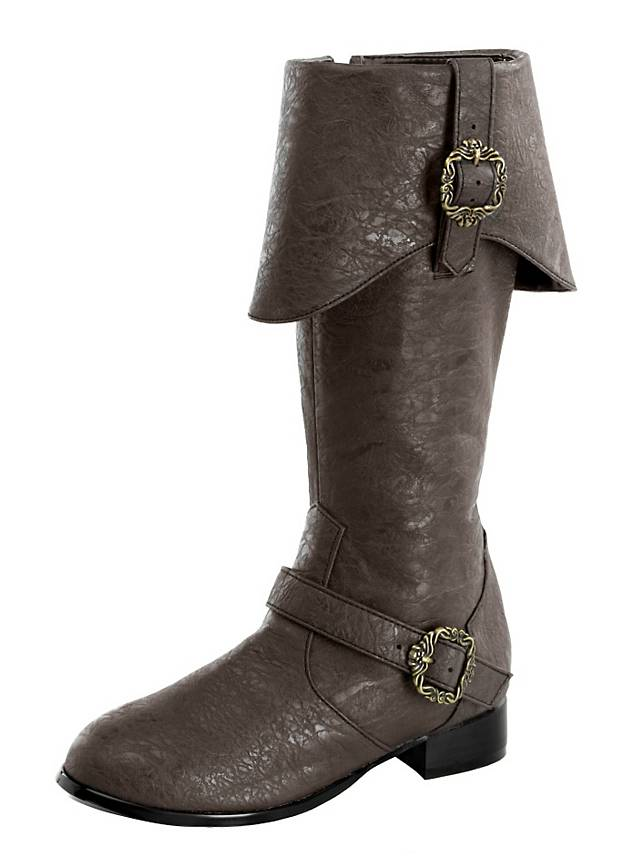 deluxe pirate boots brown maskworld