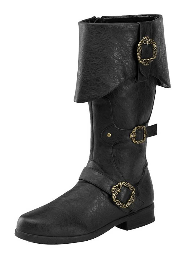 deluxe pirate boots black