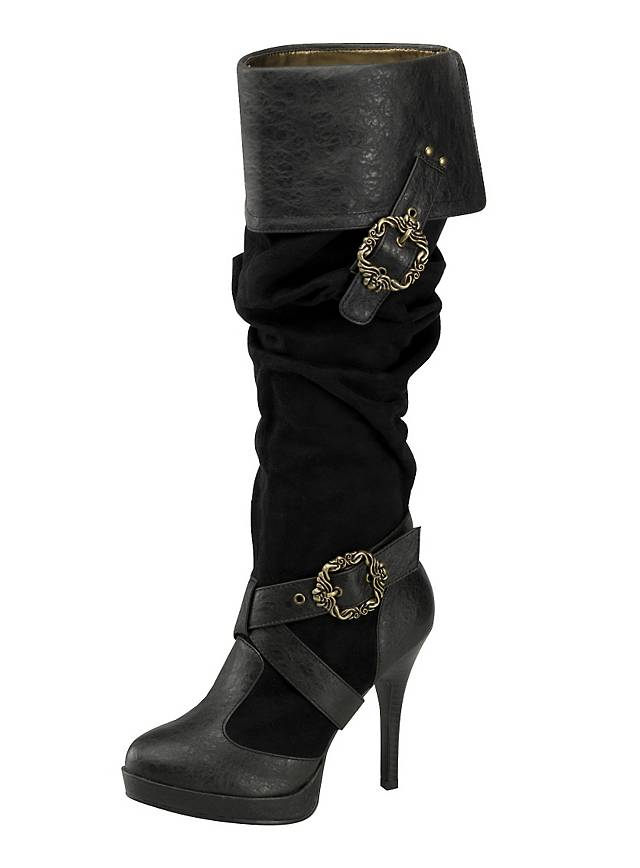 Elegant Select The Fabric For The Book Cuffs Mens Pirate Boots Look Best With Black Leather, Vinyl Or Felt, While Women Pirates Can Add Colorful, Fancy Satin Or Silk Cuffs To Dress Up The Tops Of The Boots Measure Around The Top Of The Boot And Add 2