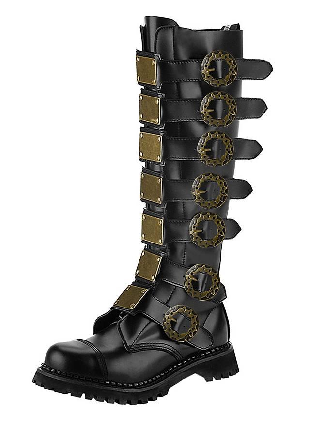 deluxe steampunk boots men black