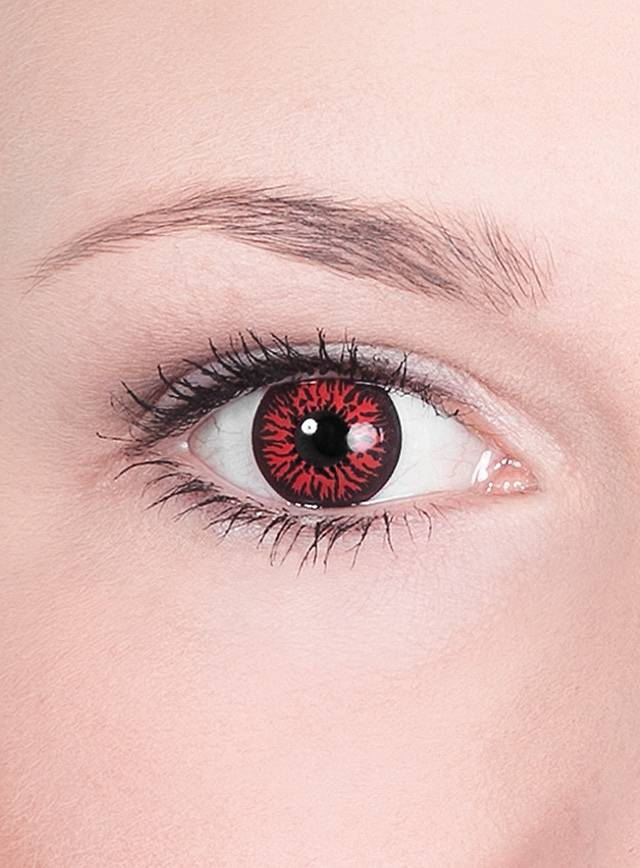 Dark Red Contact Lenses Demon