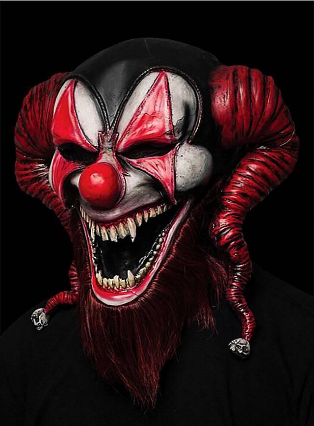 Diabolischer Hofnarr Maske