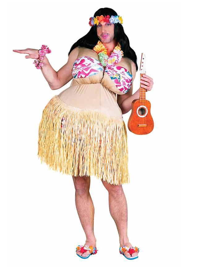 Dickes Hula Girl Kostüm