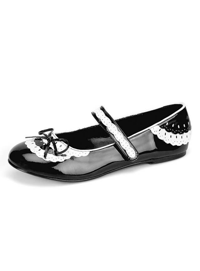 Dienstmädchen Ballerina Schuhe