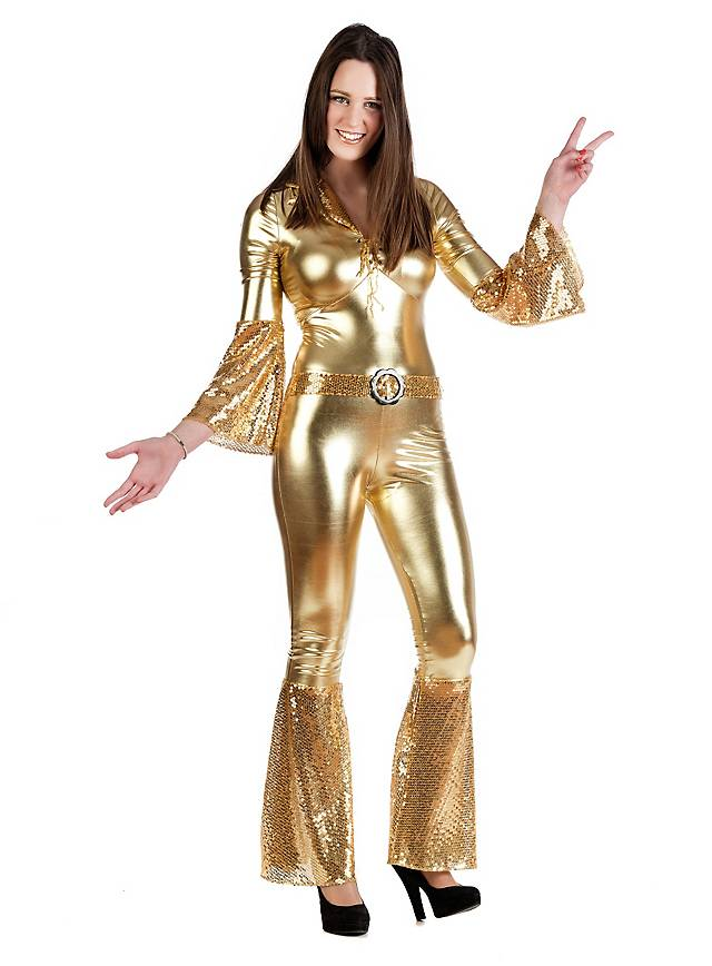 Disco Diva Gold Costume Maskworld Com