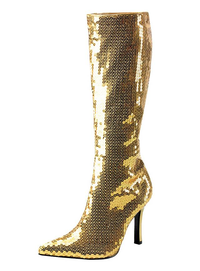 Disco Diva Stiefel gold