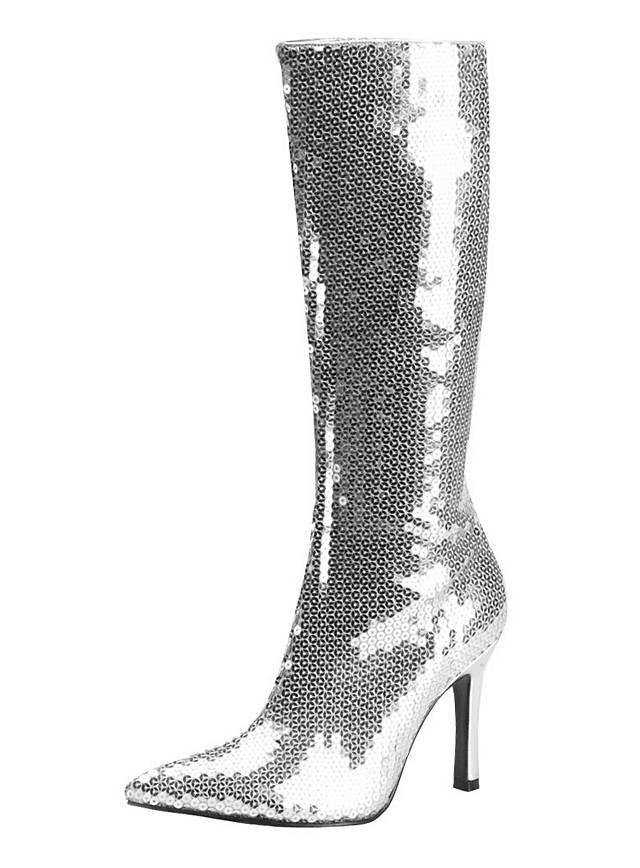 Disco Diva Stiefel silber