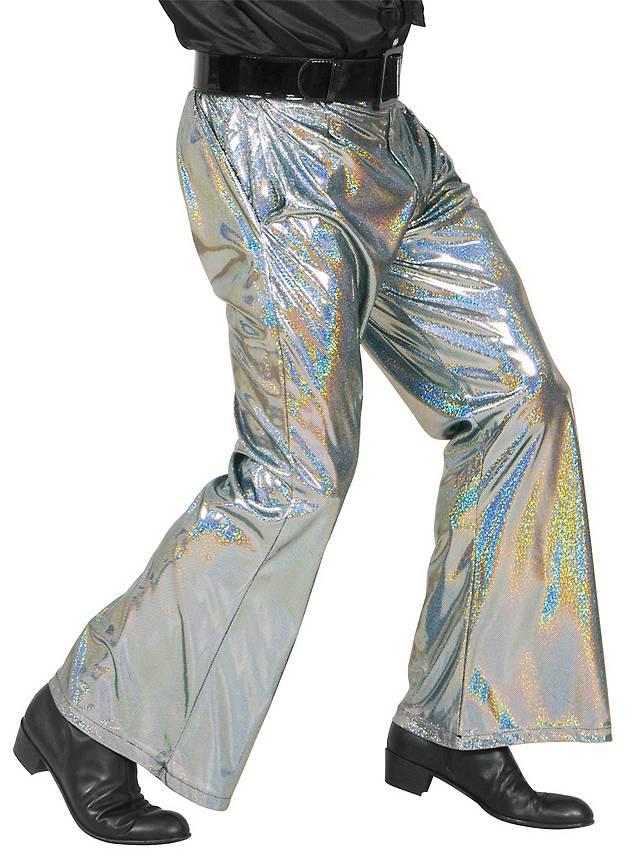 Disco Glitzer Herrenhose silber