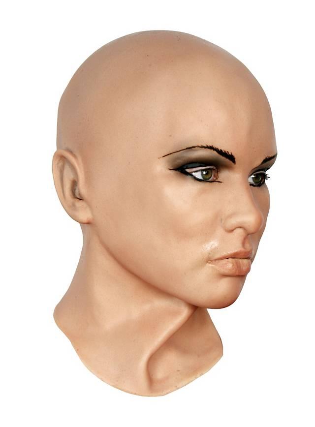 REALISTIC FEMALE LATEX MASK MADE OF FOAMED LATEX  Carnival Mask  rubber mask