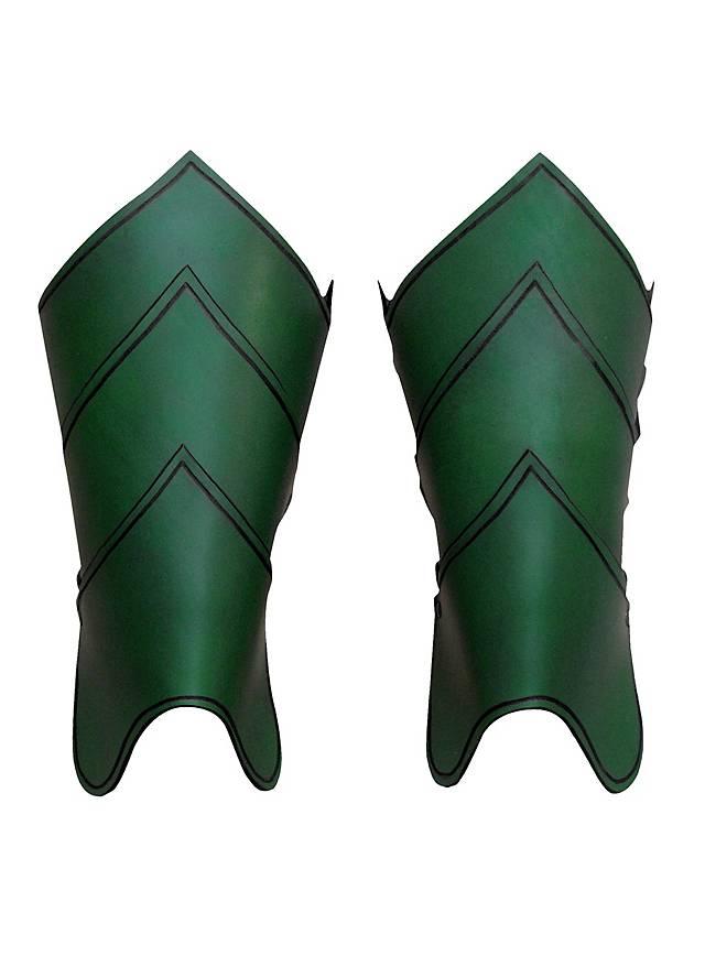 Drachenreiter Beinschienen grün