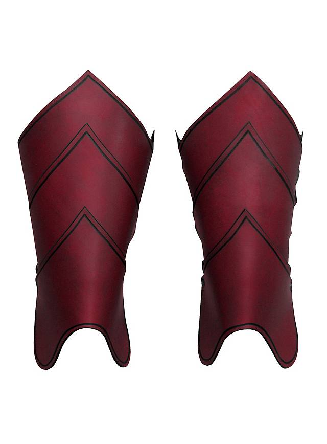 Drachenreiter Beinschienen rot