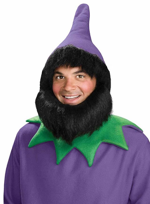 Dwarf Hat with Beard   Hair purple - maskworld.com 484d3f316e10