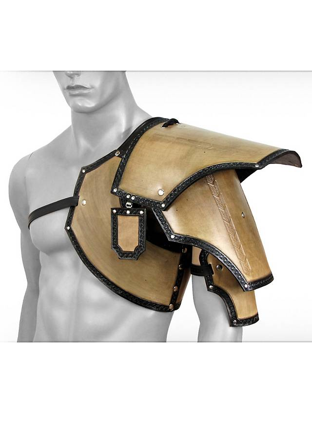 Leather Pauldron Dwarf Beige Maskworld Com