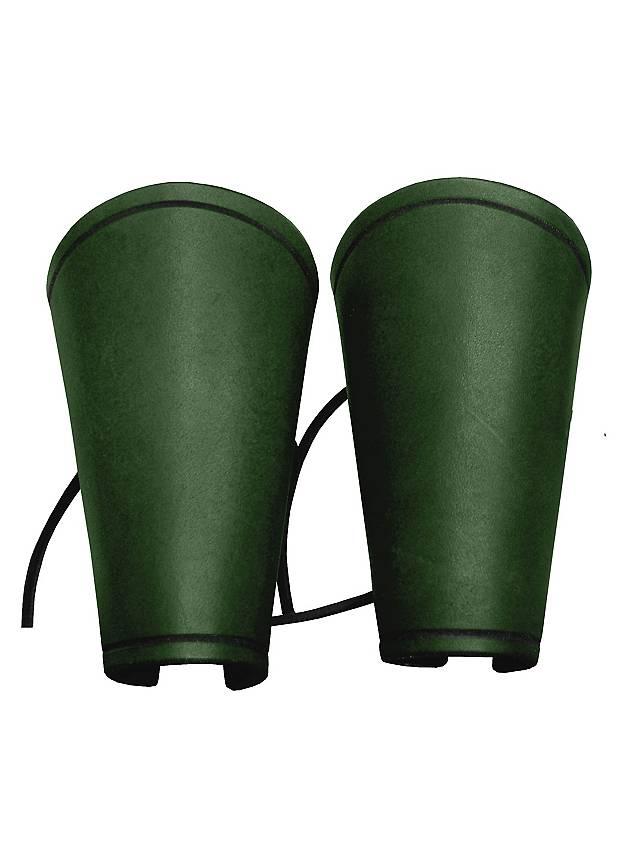 Einfache Lederarmschienen grün