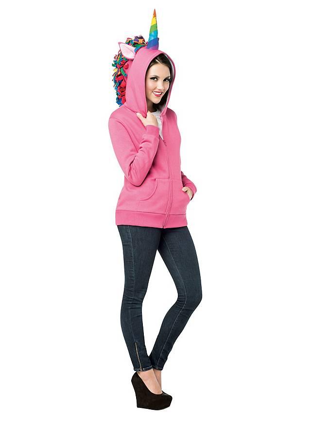 Einhorn Hoodie pink