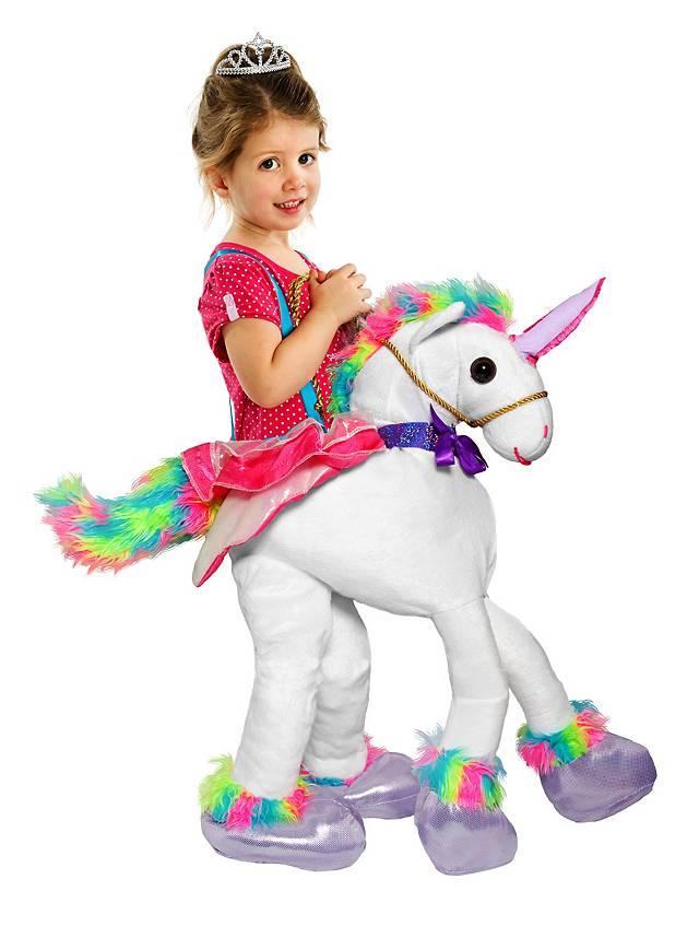 Aufsitzkostpm für Mädchen, Carry Me Kostüm, Huckepack Kostüm, Reiter Kostüm
