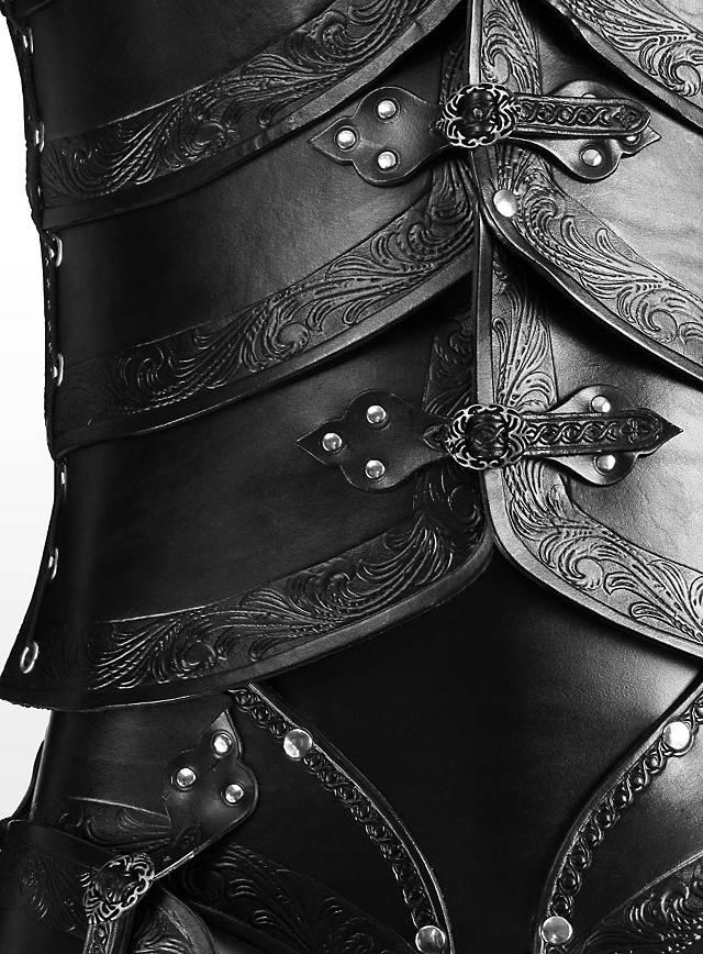 Leather Armour Set Elves Black Maskworld Com