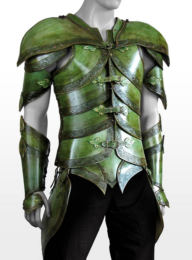 Elf Leather Armor Leaf Green