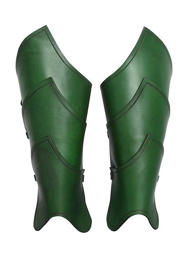 Elfenkrieger Beinschienen grün