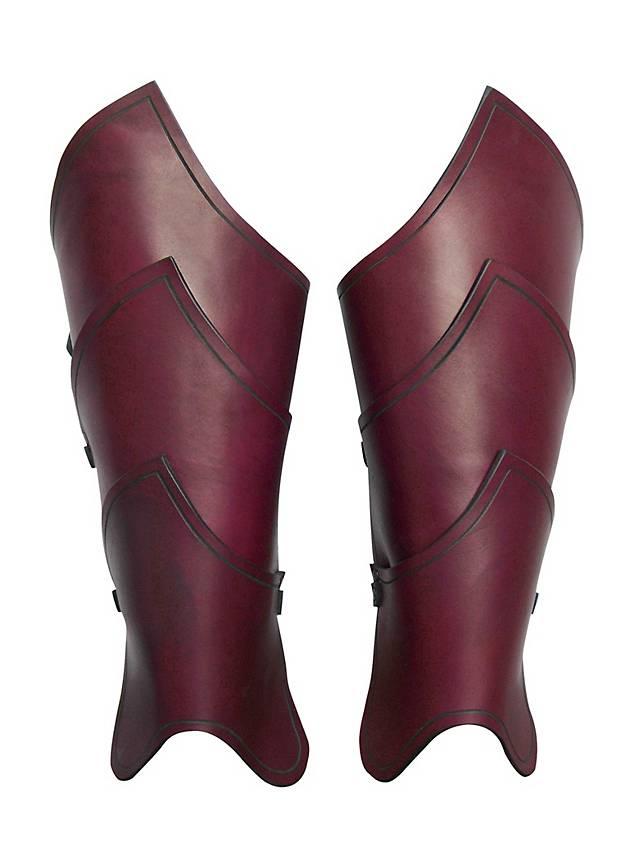 Elfenkrieger Beinschienen rot