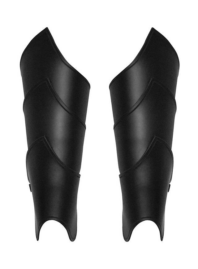 Elfenkrieger Beinschienen schwarz