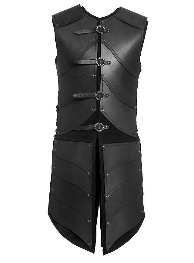 Elfenkrieger Lederrüstung schwarz
