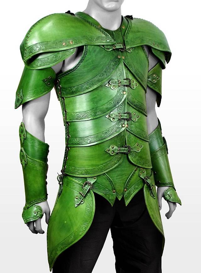 Elfenrüstung aus Leder grün