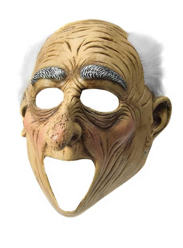 Erstaunter Opa Maske mit offenem Mund