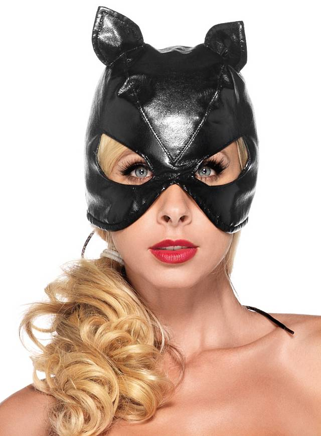 Fake Leather Cat Mask