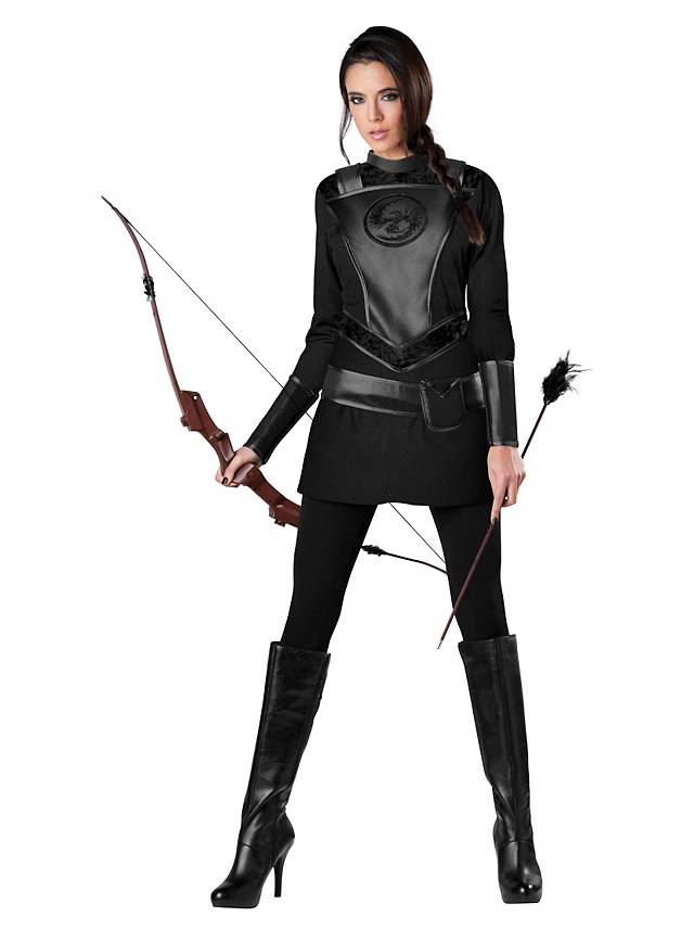 Fantasy Bogenschützin Kostüm