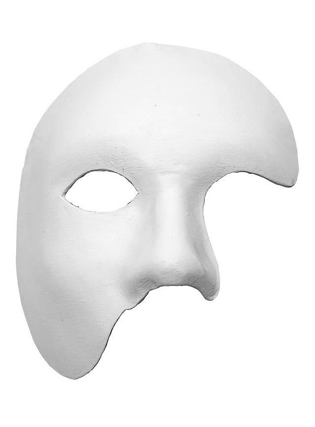 Fantôme blanc Masque en cuir vénitien