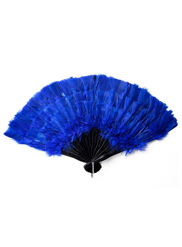 Federfächer blau
