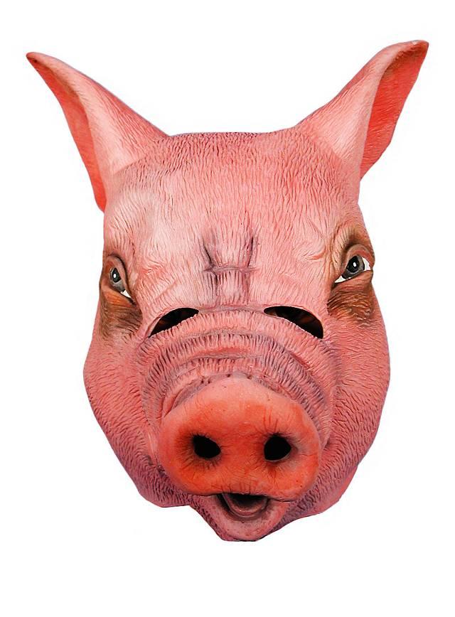 Ferkel Schweinemaske aus Latex