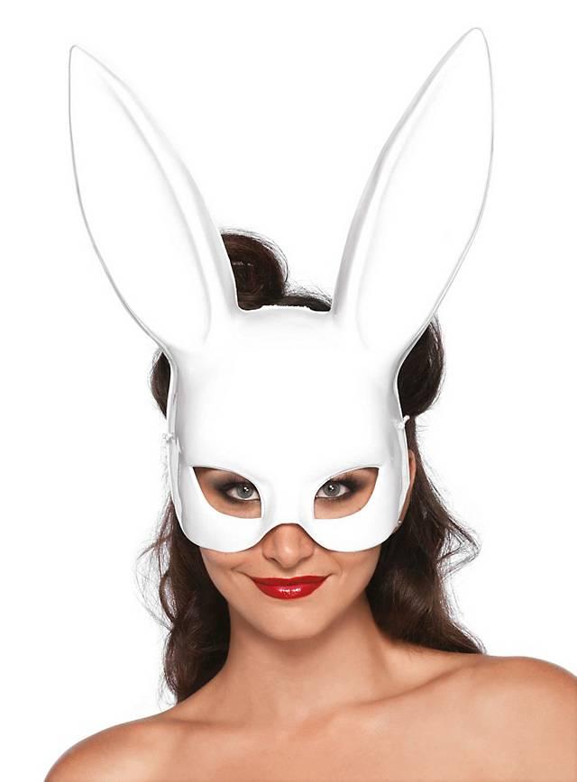 Fetisch-Bunny Halbmaske weiß